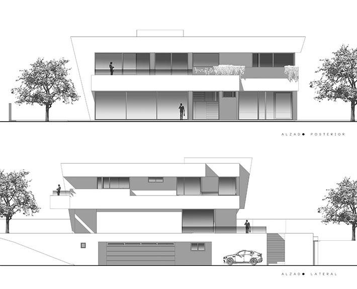 Alzado 2 estudio3 arquitectos - Alzado arquitectura ...